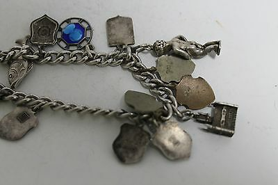 Antique Authentic Hand Made Charming Silver Coins Woman Chain Bracelet 9
