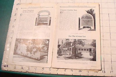 1925 THE BOOK OF LAWN FURNITURE--Long Bell lumber--CATALOG, 36pgs STAINED 5