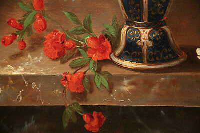Impressive  Antique 19th Century French Painting Flower Still Life 7