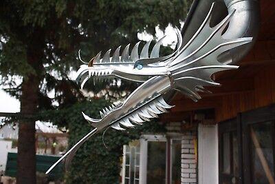 """DN 100 Drachenkopf Dragon Wasserspeier /""""Natalie/"""" Zink 6-teilig Drachen"""