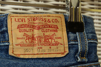 LEVI'S 550 Blue Jeans Kids' 11 Regular Relaxed Fit W25 L25 Levis Red Tab Denim 2