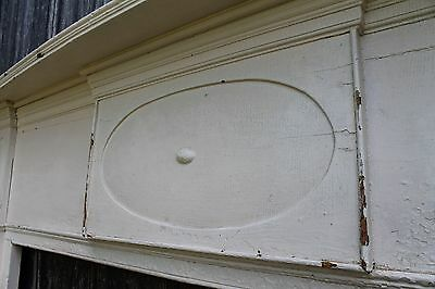 18th Century New England Fireplace Mantel Carved Ovals Large opening 6