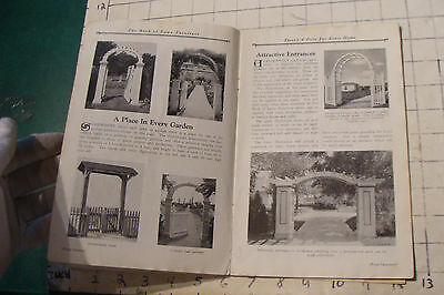 1925 THE BOOK OF LAWN FURNITURE--Long Bell lumber--CATALOG, 36pgs STAINED 7