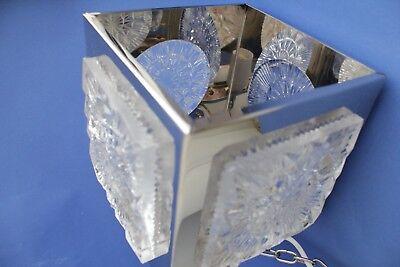 Swedish vintage brass chrome plated Crystal ORREFORS VINTAGE  LAMP 7