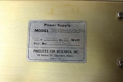 Products for research Inc Model: TE-104-RF/S-504 High voltage power supply (TS7) 4