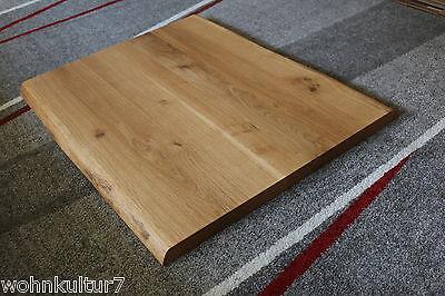 tischplatte platte eiche wild massiv holz mit baumkante neu tisch brett leimholz eur 275 00. Black Bedroom Furniture Sets. Home Design Ideas