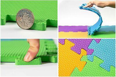 Kids Children PlayMats Soft Foam Interlocking Play Mats Outdoor Activity 9 Pc 2