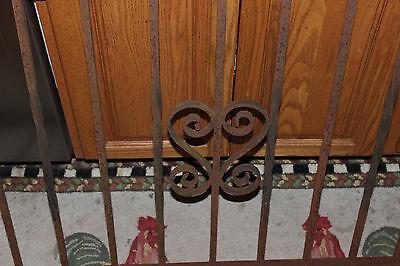 Vintage Wrought Cast Iron Architectural Garden Yard Art Fence Railing-LQQK 3