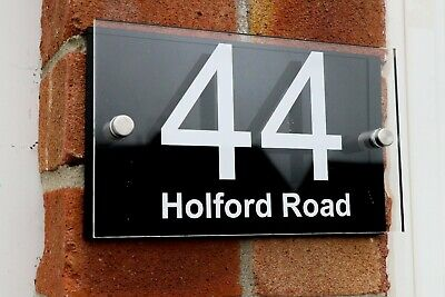 ACRYLIC Contemporary HOUSE SIGNS / PLAQUES / DOOR NUMBER 2