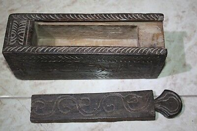 Antique India Rosewood Lidded Spice Box Samruddhi Keralan Museum Quality 1890's 4