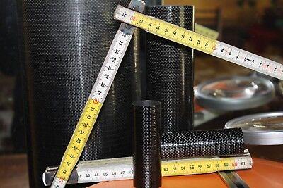 Tubo in fibra di carbonio kevlar 3k est19 int17 lung 1000mm Modellismo