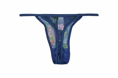 Women Panties Thongs CAPRICIA O/'DARE Size 7 Green Satin Silky Soft Floral