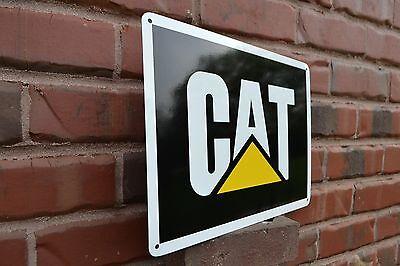 CAT CATERPILLAR Metal Sign backhoe excavator skid steer Shop Garage 9x12 50047