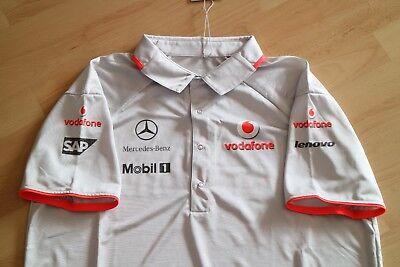 Vodafone McLaren Mercedes Team Polo Shirt Gr.L + Beutel (Pull Bag) 2009 NEU