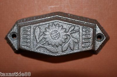 "(4) Vintage-Look Sunflower Drawer Pull, 3"", Small Pull, Cast Iron Pulls, Hw-12 10"