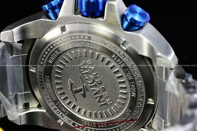 "Invicta 63mm Reserve Grand Octane Arsenal ""PINNACLE"" Swiss Silver Blue SS Watch 10"