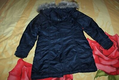 HERE + THERE C&A winter Jacke Parka Kapuze Gr.140 XS TOP blau 7