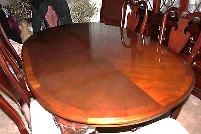 9 Of 12 THOMASVILLE MAHOGAHY Dining Table 8 Chairs China Cabinet Sideboard Made In