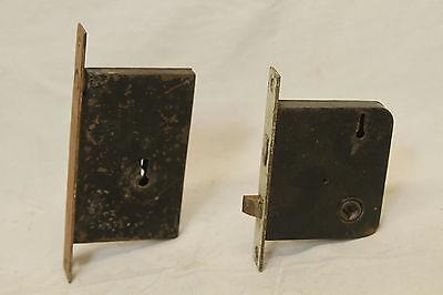 Antique Architectural Salvage Lot Of 5 Brass Door Locks 8