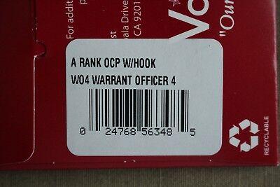 Us Army Gi Multicam Ocp W-4 Cw4 Hook Back Camouflage Camo Uniform Rank Patch
