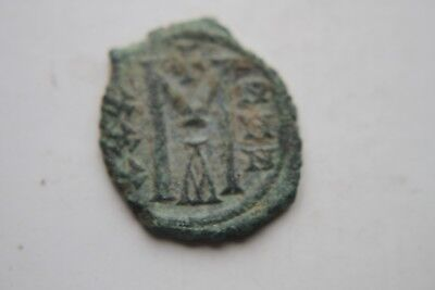 ANCIENT BYZANTINE MICHAEL II BRONZE FOLLIS COIN 9th CENTURY AD 2