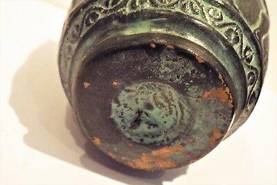 Antique Libation Greek terracota decorated cup.