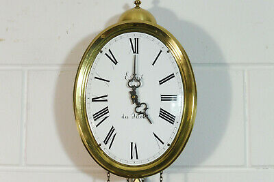 Comtoise Wall Clock Dutch Movement Vintage Old Clock 3