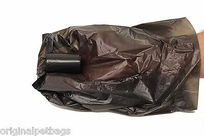 1012 Black Poop Bag Dog Waste Pick Up Clean Bags Coreless.Made in USA &Dispenser 5