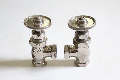 antique faucet wheel shut off angle valve | united deco vtg victorian plumbing 5