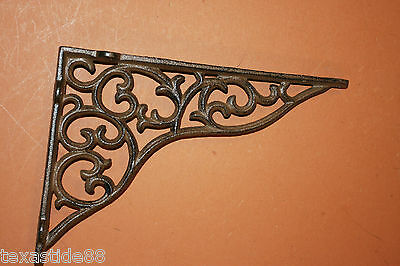 "(8)pcs, 11"" SHELF BRACKETS, CAST IRON, LARGE, VINTAGE LOOK, DIY SHELVING, B-18 4"