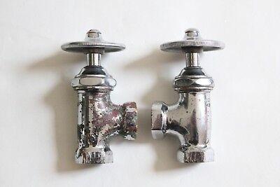 antique faucet wheel shut off angle valve | republic deco vtg victorian plumbing 9