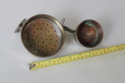 antique bathroom cup soap holder | vtg brass nickel victorian bath tumbler 10