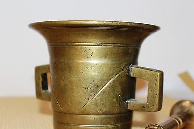 Mörser Schlegel Stössel antik Pistill Küche Pulver Deko Tabletten #6256 2