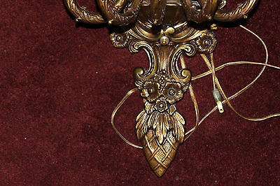 Vintage Victorian Style Candelabra Wall Sconce Brass Light Fixture-5 Lights-LQQK 4 • CAD $314.99