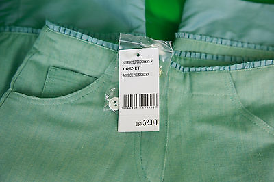 JACADI Girls Cornet Pale green 3/4 Pants w/ Floral Embroidery Sz 8 Years NWT 6