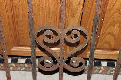 Vintage Wrought Cast Iron Architectural Garden Yard Art Fence Railing-LQQK 7