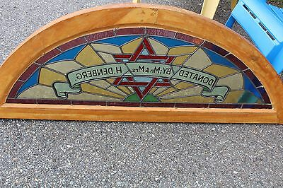Arched Top Antique Victorian Stained Glass Window Architectural Salvage Church 9