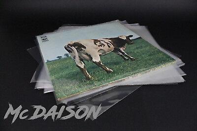 McDAISON - 100 BUSTE LP POLIPROPILENE trasparenti lucide DISCHI vinile 33g 90my 2
