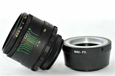 New HELIOS 44-2 2/58mm+ adapter FujiFilm M42/FX Mount BEST Russian USSR Lens 11