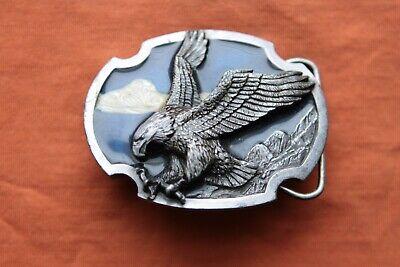 Vintage Siskiyou Buckles Co. Pewter Landing Eagle Belt Buckle 2