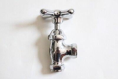 antique faucet shut off angle valve | vtg deco victorian bath plumbing cross 5