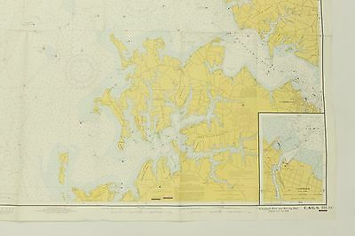 CHESAPEAKE BAY Maryland Choptank River 551-SC Vintage Map Nautical ...
