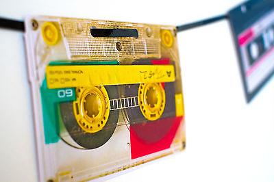 70s 80s 90s Party Decoration Retro Cassette Tape Bunting