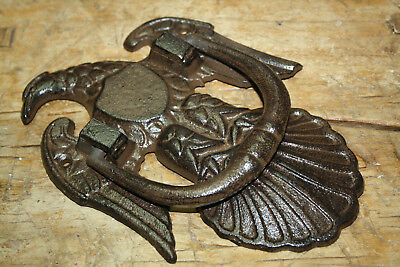 HUGE Cast Iron Antique Victorian Style AMERICAN EAGLE Door Knocker USA Man Cave 3
