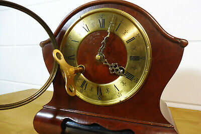 Dutch Warmink Wuba Clock Table Clock Mantel Clock 2 Bells Chime 12