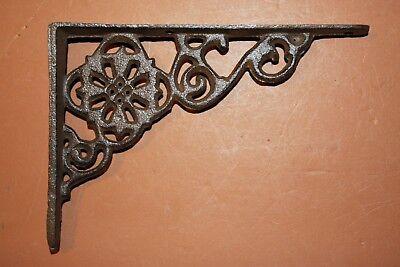 Old-Fashioned Padlock Decor, Vintage-Style Small Shelf Brackets, Solid Cast Iron 6