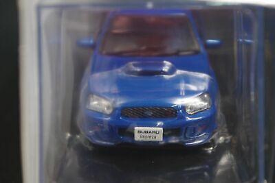Subaru Impreza WRX STI 2004 Blue 1//43 Scale Box Mini Car Display Diecast Vol 97