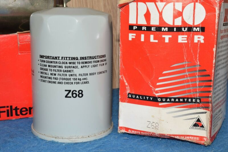 PBR CLUTCH PLATE R7931W Repco Fuel Filter RFF-75 Ryco Oil Filter Z68