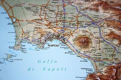 La Cartina Di Napoli.Golfo Di Napoli Carta In Rilievo 30x21 Cm Con Cornice Cartina Mappa Global Eur 17 95 Picclick Fr