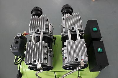 236L/min Dental Air Compressor Noiseless Oilless Motors GA-62 60L Tank AU 220V 4